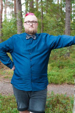 Jag har fotat en Älva och en Rockstjärna i skogen!- Porträtt brudgummen!   photobymj.se