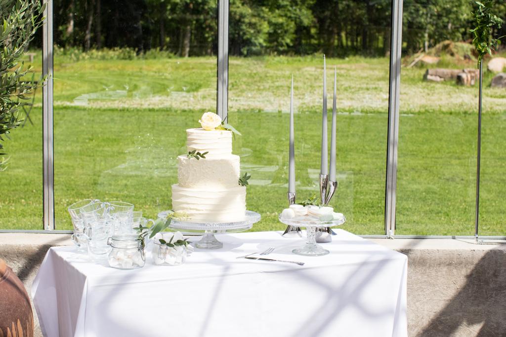 Grön Fotografering - Bröllopstårta | photobymj.se
