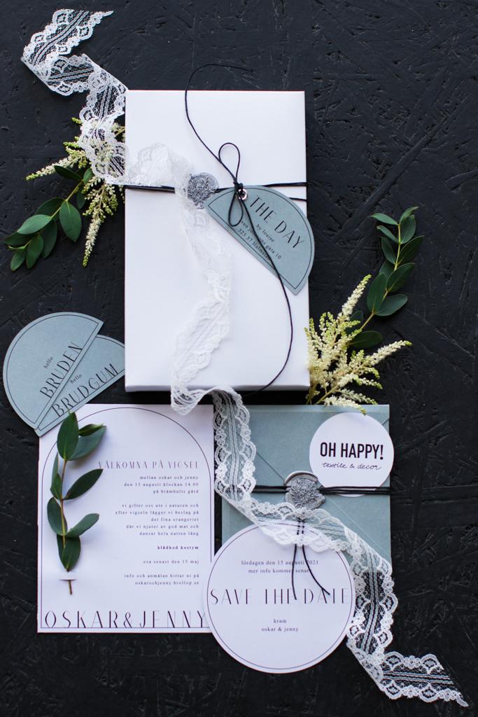 Grön Fotografering - Trycksakerna är en viktig del av bröllopet | photobymj.se