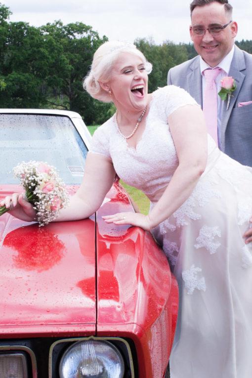 En bröllopsfotografering i Smålands djupa skogar!- Porträtt brud och brudgum!   www.photobymj.se