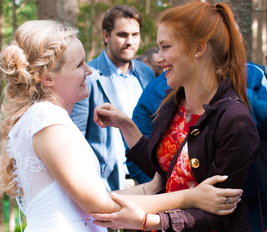 Jag har fotat en Älva och en Rockstjärna i skogen!- Gratulationer efter vigsel!   photobymj.se