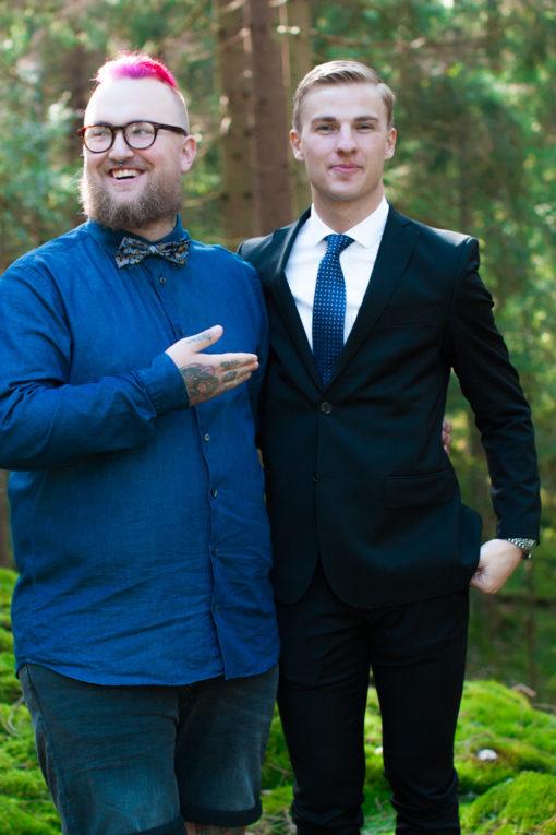 Jag har fotat en Älva och en Rockstjärna i skogen!- Porträtt brudgummen och hans närmsta! | photobymj.se